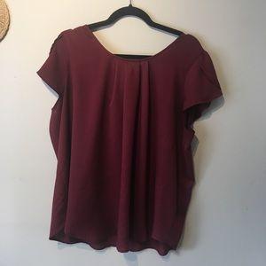 Torrid size 1x burgundy blouse.